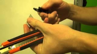 Заменить лезвие канцелярского ножа — как обновить лезвие в ноже(, 2015-01-10T20:33:34.000Z)