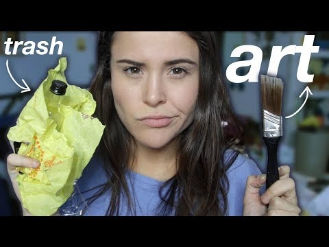 MAKING ART WITH TRASH I FOUND ON THE STREET | AYYDUBS