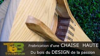 Travail Du Bois - Fabrication D'une Petite Chaise Design