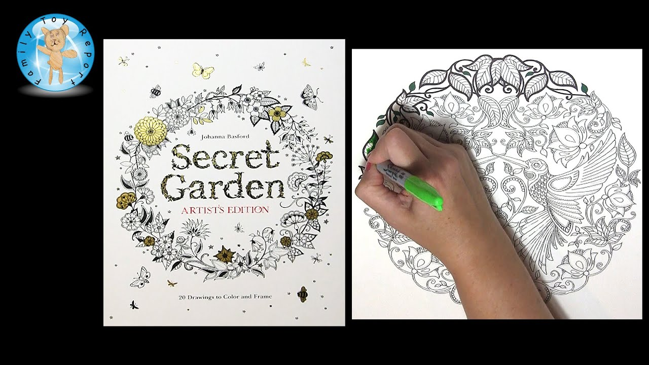 Secret Garden Artists Edition By Johanna Basford Adult Coloring Book Birds