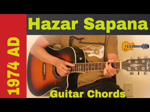 Hazar sapana  1974 AD guitar chords  lesson  strumming