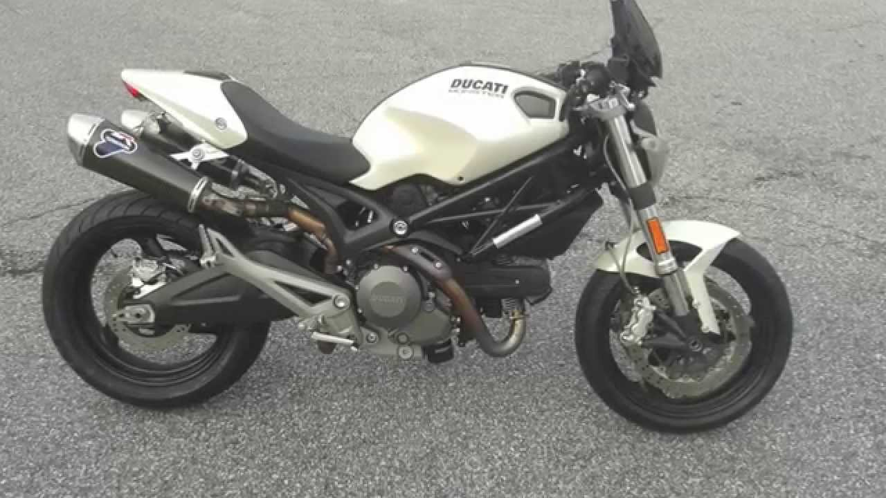 2010 Ducati Monster 696 with Termignoni dual exhaust - YouTube