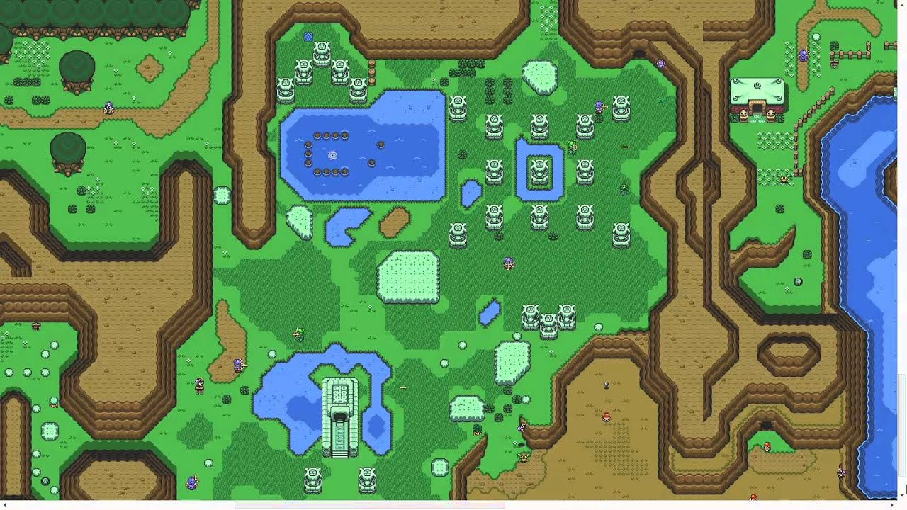 Legend Of Zelda A Link To The Past Map