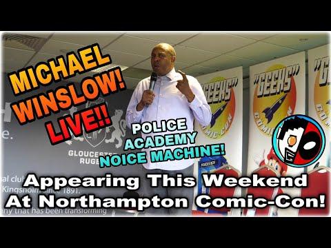 Michael Winslow Northampton Comic-Con 2017 Advertisement.