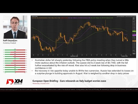Forex News: 03/10/2018 - Euro rebounds as Italy budget worries ease