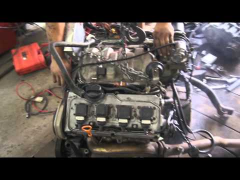 Audi 4.2 v8 ABZ Engine first start SWAP KRT 4x4