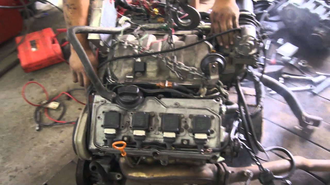 audi 4 2 v8 abz engine first start swap krt 4x4 youtube. Black Bedroom Furniture Sets. Home Design Ideas