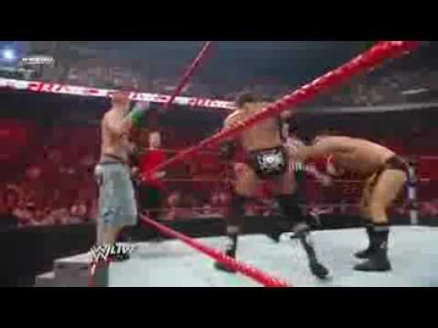 WWE Raw 6/13/09 - Legacy vs Triple H, John Cena, and Seth Green PART 1/2