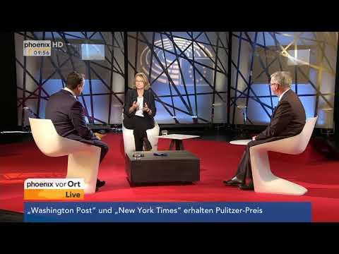 Interview mit Evelyn Gebhard und Michael Gahler im EU-Parlament am 17.04.18