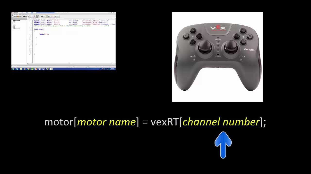 VEX Remote Control Programming Tutorial Video