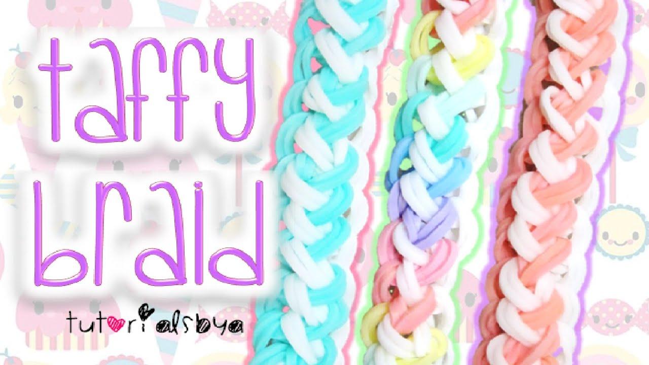 New Taffy Braid Rainbow Loom Bracelet Tutorial  How To