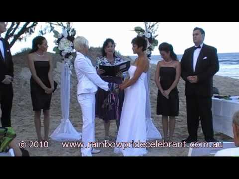 Handfasting Commitment Ceremony of Angela & Penny - Rainbow Pride Celebrant - Marry Me Marilyn