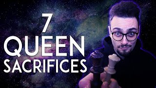 7 BEST Queen Sacrifices In Chess History!