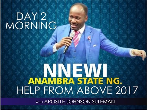 NNEWI - ANAMBRA STATE OUTREACH, LIVE BROADCAST WITH APOSTLE JOHNSON SULEMAN