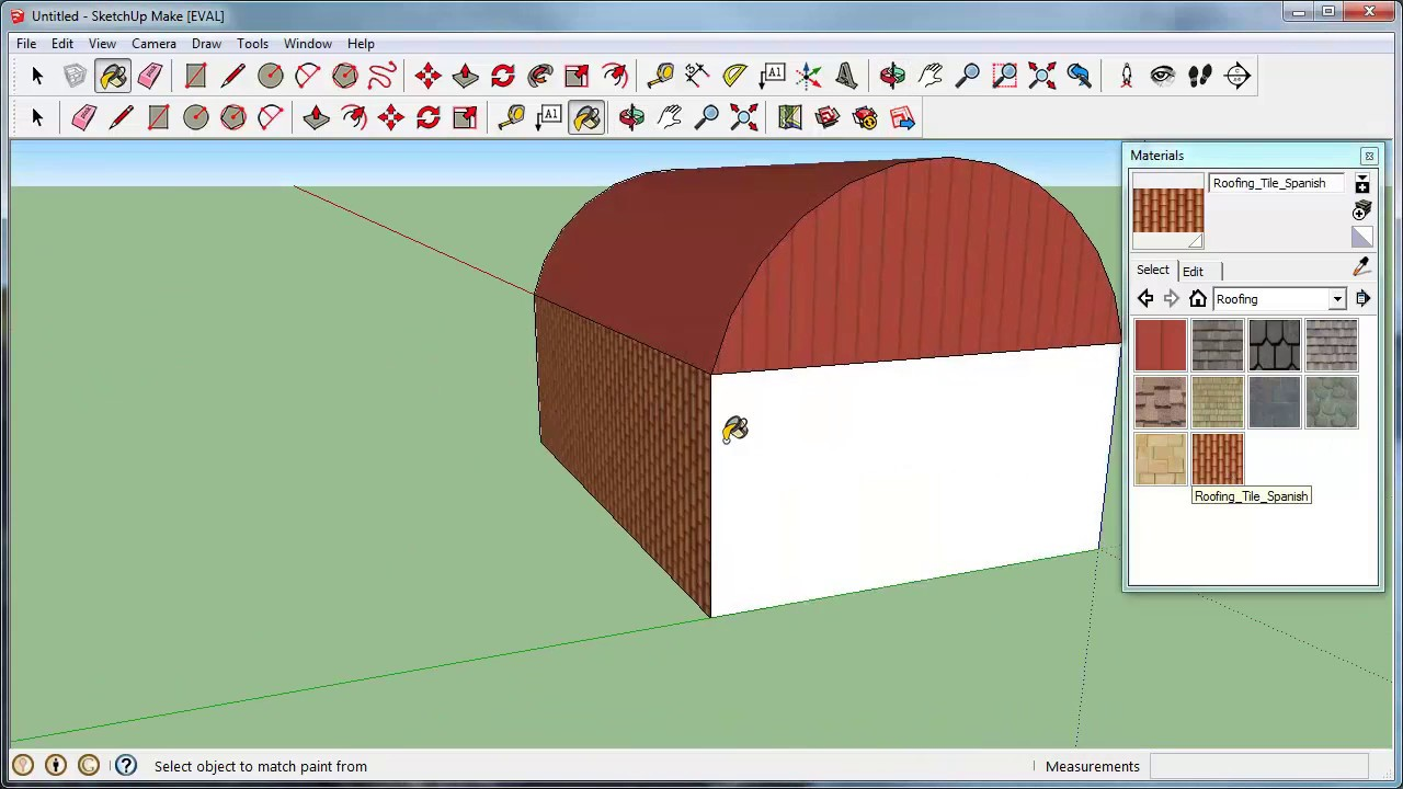 How to draw a gambrel roof in sketchup - Sketchup Barn Roofing