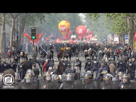 Cortège de tête vs police à Paris pour le 1er Mai - 01/05/17