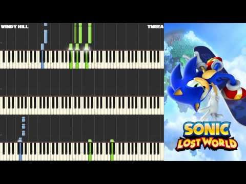 Sonic Lost World - Windy Hill (Zone 1) - Awesome for Piano