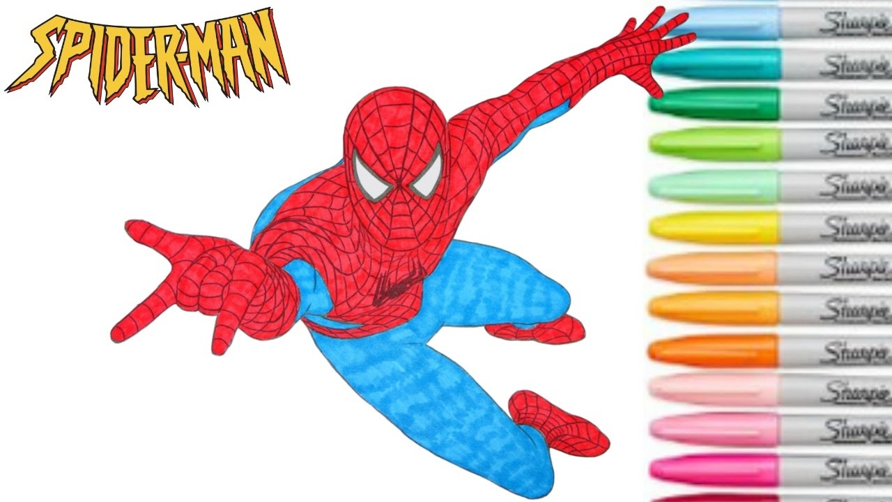 spiderman coloring book marvel superhero colouring pages episode 2
