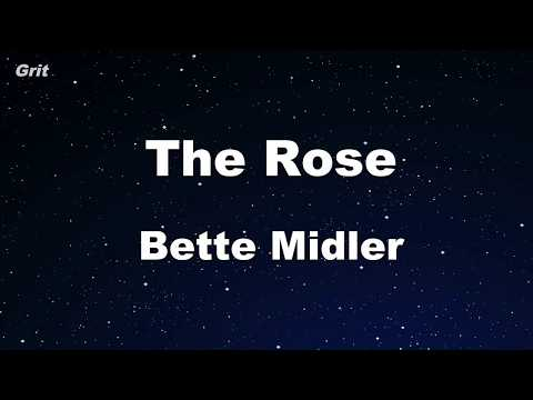 The Rose - Bette Midler Karaoke 【No Guide Melody】 Instrumental
