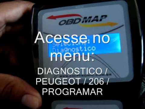 Chiptronic Obdmap Programação De Chaves Peugeot 206 Youtube