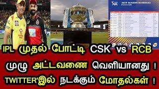 IPL ! CSK vs RCB ! TWITTER !