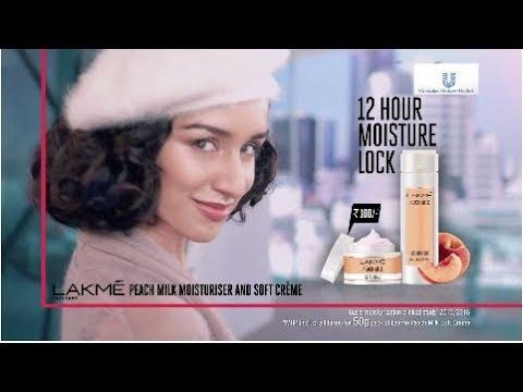 New Lakmé Peach Milk Moisturiser and Soft Crème (TVC)