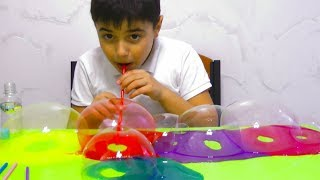 Guka Plays and Learn Colors with Slime