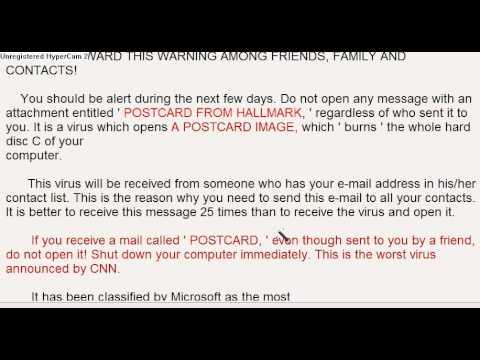 Attachment entitled postcard from hallmark