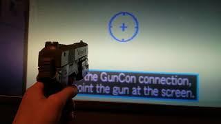 Guncon PSX on a Sony Wega rear projection