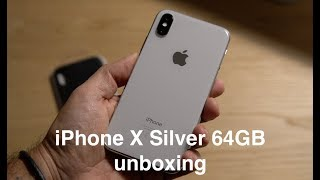 iPhone X Silver 64GB unboxing (With an ASMR bit :-)