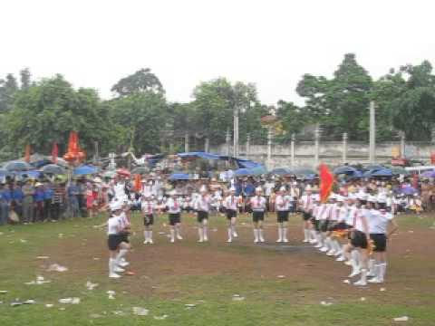 Hội trại thiếu nhi xã Quang Trung hè 2013 - Thi Nghi thức đội - đội hình chữ U