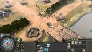 Company of Heroes - Allied (British) Royal Artillery Support Gameplay VS Expert A.I.