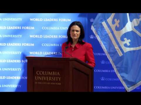 Columbia World Leaders Forum - Her Excellency Isabel de Saint Malo de Alvarado of Panama