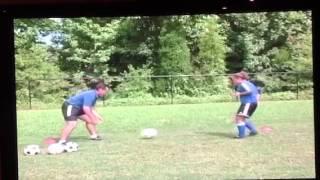 Ball Of The Air Conbination Soccer Drill