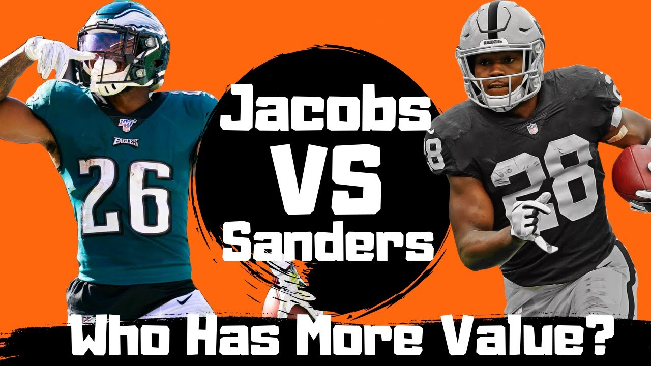 Fantasy Football 2020 Young Stud Running Backs | Who is More Valuable Josh Jacobs vs Miles Sanders!!