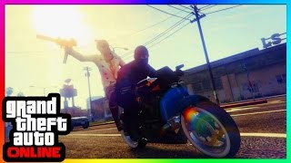 GTA 5 Online Glitches - SICK MOTORCYCLE GLITCH! - Never Fall Off Your Motorbike PS4/Xbox One/PC 1.37