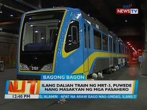 Ilang Dalian train ng MRT-3, puwede nang masakyan ng mga pasahero