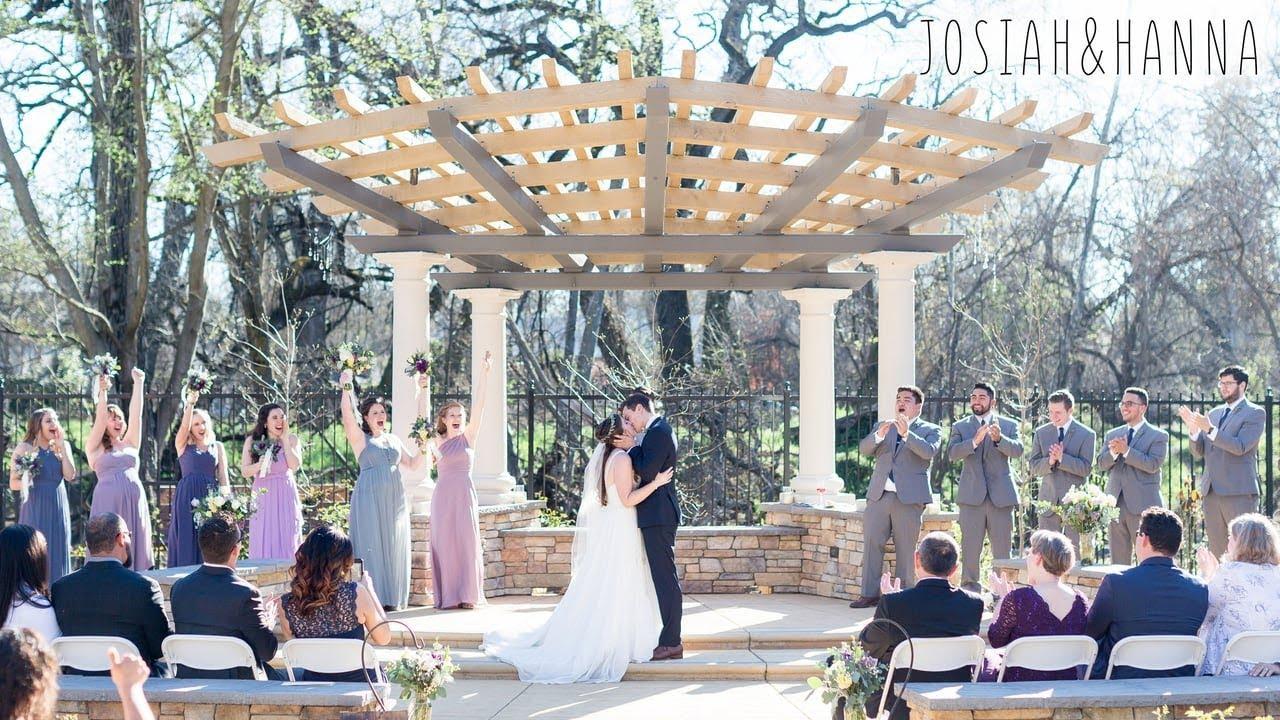 Captivating Creekside Rose Garden Chico Wedding Videography Josiahu0026Hanna
