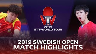 Wang Chuqin vs Lin Gaoyuan | Swedish Open 2019 (Final)