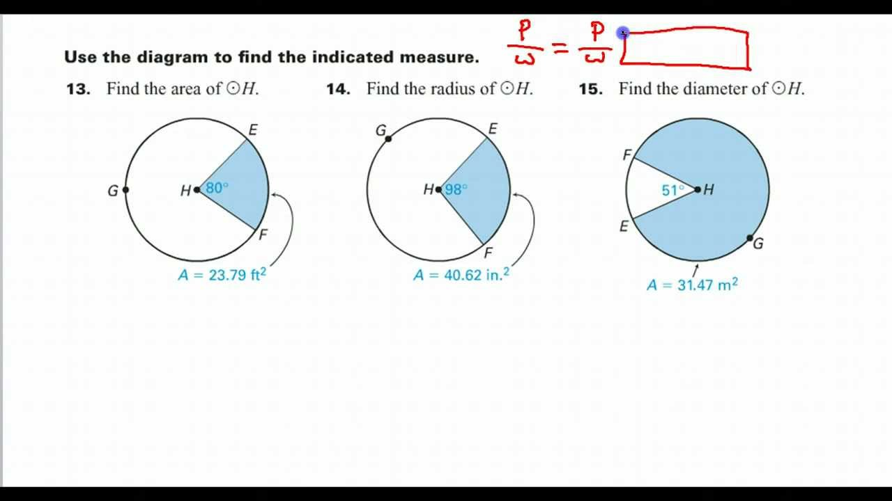 Day 01 Hw #14  How Do You Find The Radius Given The Sector Area?