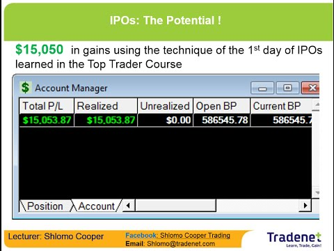 Day Trading IPOs For $15,000 - Shlomo Cooper