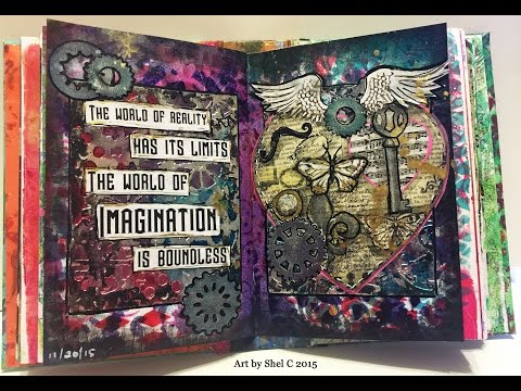 NaNoJouMo Art Journal Page - Steampunk