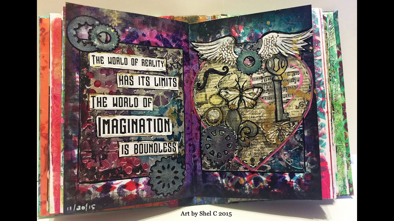 A World of Artist Journal Pages: 1000+ Artworks - 230