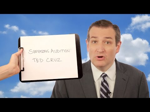 Ted Cruz Auditions For The Simpsons