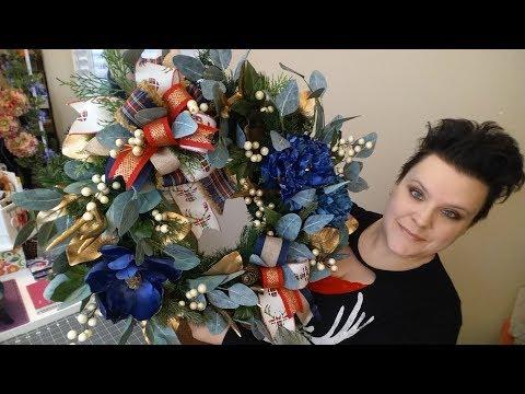 Christmas Deer Antler Wreath