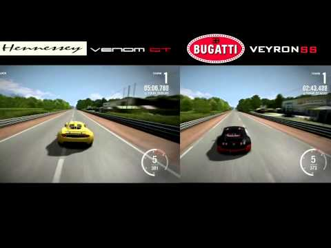forza 4 hennessey venom gt vs bugatti veyron ss youtube. Black Bedroom Furniture Sets. Home Design Ideas
