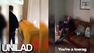 Guy Shoots His Dad With A Nerf Gun