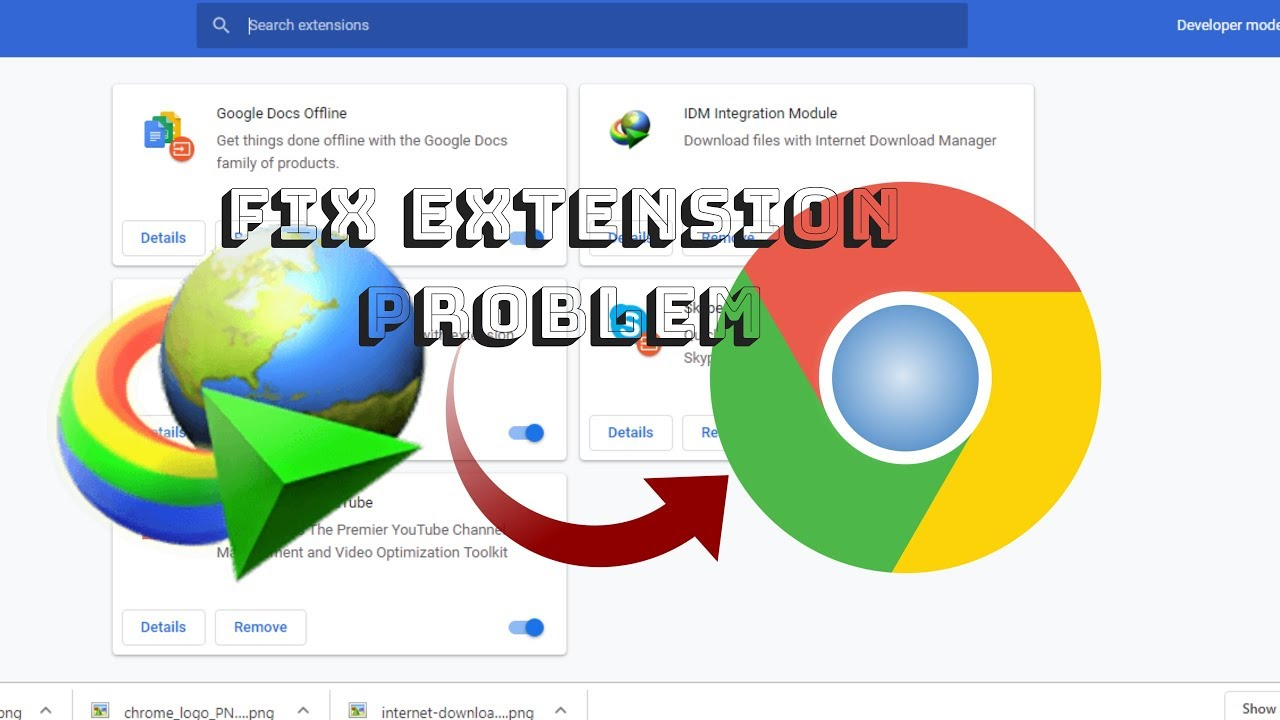 google chrome idm extension problem