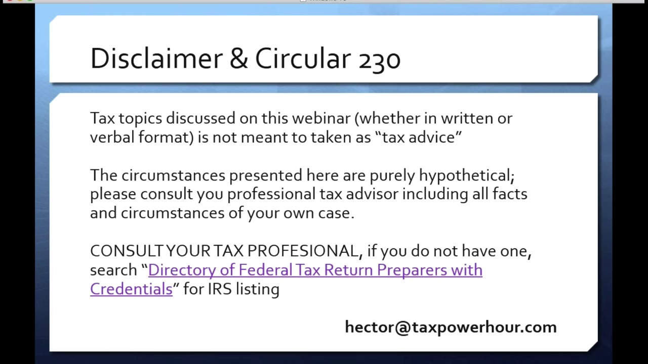 TAX POWER HOUR: DEPRECIATION & COST SEGREGATION (MAY 2017) - YouTube
