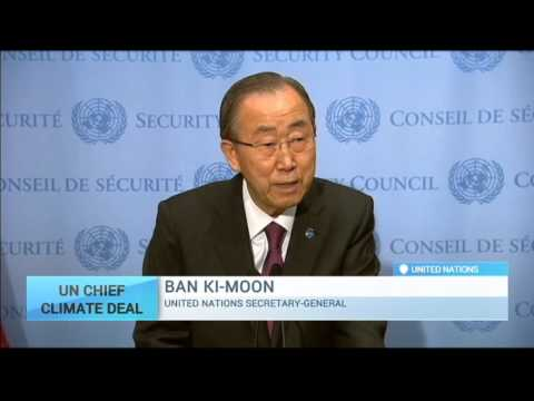 Paris Climate Change Summit: United Nations chief Ban Ki-moon 'encouraged' by talks